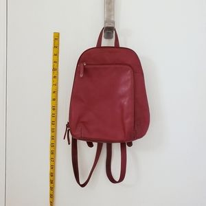 Clarks England Red Leather Backpack ~ Soft